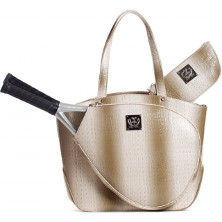 Court Couture Cassanova Croco-embossed Tennis Tote (Sand)