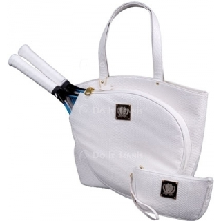 Court Couture Cassanova Tennis Bag (White Python)