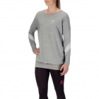 K-Swiss Women's On Court Tennis Pullover (Marbled Grey) - Women's Long-Sleeve Shirts