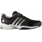 Adidas Men's Barricade Classic Bounce Wide 4E (Black/Silver) - Men's Tennis Shoes