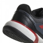 Adidas Barricade Club xJ Junior Tennis Shoe (Core Black/Scarlet/White)