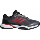 Adidas Barricade Club xJ Junior Tennis Shoe (Core Black/Scarlet/White) - Tennis Shoes for Kids