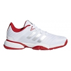 Adidas Barricade xJ Junior Tennis Shoe (White/Red) - Adidas Junior Tennis