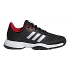 Adidas Barricade 2018 xJ Junior Tennis Shoe (Black/Silver/Scalett) - Adidas Junior Tennis Shoes