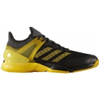 Adidas Men's Adizero Ubersonic 2 Tennis Shoe (Black/Equipment Yellow/Grey) - Men's Tennis Shoes
