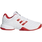 Adidas Women's Barricade Tennis Shoe (White/Scarlet) - 6-Month Warranty Shoes