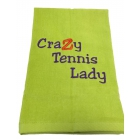 40 Love Courture Phrase Tennis Towel (Crazy Tennis Lady) - Tennis Accessories