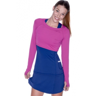 Bloq-UV Long Sleeve Tennis Crop Top (Orchid)