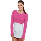 Bloq-UV Long Sleeve Tennis Crop Top (Passion Pink) - Women's Tennis Apparel