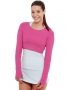 Bloq-UV Long Sleeve Tennis Crop Top (Passion Pink) - Women's Tops