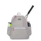 Ame & Lulu Courtside Tennis Backpack (Grey/Pink) - Women's Tennis Bags