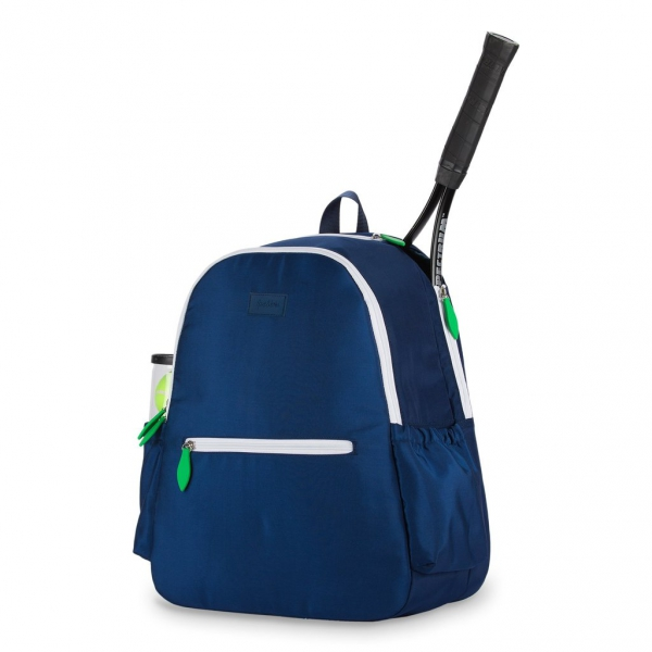 Ame & Lulu Courtside Tennis Backpack, Navy/Green