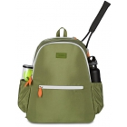 Ame & Lulu Courtside Tennis Backpack (Army/Orange) - Women's Tennis Bags