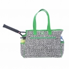 Ame & Lulu Poppy-Grass Tennis Court Bag - New Tennis Bags