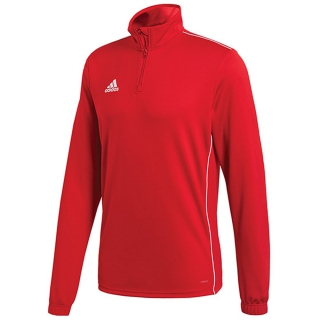 Adidas Men's Core Training Half Zip Tennis Top (Power Red/White)