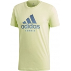 Adidas Men's Category Tennis Tee Shirt (Semi-Frozen Yellow) - New Style Tennis Apparel