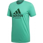 Adidas Men's Category Tennis Tee Shirt (Hi-Res Green) - New Style Tennis Apparel