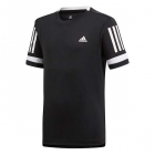 Adidas Boys' Club 3 Stripes Tennis Tee (Black) -