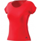 Adidas Women's Barricade Tennis Top (Scarlet/Black) - Women's Cap-Sleeve Shirts