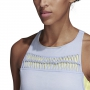 Adidas Women's Melbourne Tennis Tank (Chalk Blue/Semi Frozen Yellow)