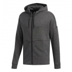 Adidas Men's ID Stadium Full Zip Tennis Hoodie (Stadium Heather/Black) - Adidas Men's Tennis Jackets, Pants and Sweats