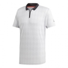 Adidas Men's Barricade Tennis Polo (Light Grey Heather) - Men's Polo Shirts