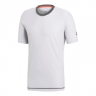 Adidas Men's Barricade Tennis Tee (Light Grey Heather) - Tennis Online Store