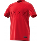 Adidas Boys' Barricade Tennis Tee (Scarlet/Black) - Adidas Junior's Tennis Apparel
