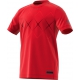 Adidas Boys' Barricade Tennis Tee (Scarlet/Black) - Boy's Tennis Apparel