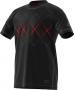 Adidas Boys' Barricade Tennis Tee (Black/Scarlet) - Clearance Sale! Discount Prices on Kids' Tennis Gear