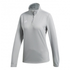 Adidas Women's Core Tennis Training 1/2 Zip Long Sleeve Top (Stone/White) - Adidas Women's Tennis Dresses, Jackets & Pants