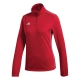 Adidas Women's Core Tennis Training 1/2 Zip Long Sleeve Top (Power Red/White) - Adidas Women's Tennis Apparel