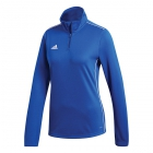 Adidas Women's Core Tennis Training 1/2 Zip Long Sleeve Top (Bold Blue/White) - Adidas Women's Tennis Dresses, Jackets & Pants