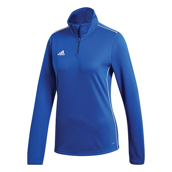 Adidas Women's Core Tennis Training 1/2 Zip Long Sleeve Top (Bold Blue/White)