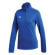 Adidas Women's Core Tennis Training 1/2 Zip Long Sleeve Top (Bold Blue/White) - Adidas Women's Tennis Apparel