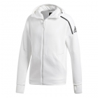 Adidas Men's NZE Fast Release Tennis Hoodie (Heather/White) - Adidas Men's Tennis Jackets, Pants and Sweats