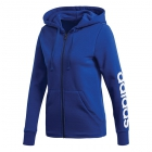 Adidas Women's Essentials Linear Full-Zip Tennis Hoodie (Mystery Ink/White) - Adidas Women's Tennis Apparel