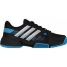 Adidas Barricade Team 3 Juniors Tennis Shoes (Black/ Silver/ Blue) - Adidas Barricade Team Tennis Shoes