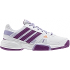 Adidas Barricade Team 3 Juniors Tennis Shoes (White/ Purple/ Orange) - Adidas Tennis Shoes