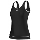 Adidas Women's Galaxy Tank (Black/ White) - Women's Tops Tennis Apparel