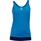 Adidas Women's Galaxy Tank (Solar Blue/ Night Blue) - Women's Tops Cap-Sleeve Shirts Tennis Apparel