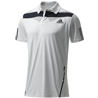 Adidas Men's Barricade Traditional Polo (White/ Night Shade)