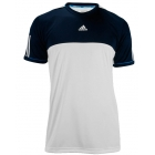 Adidas Men's Response Tee (White/ Collegiate Navy) - Adidas Men's Apparel Tennis Apparel