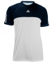 Adidas Men's Response Tee (White/ Collegiate Navy) - Adidas Tennis Apparel