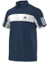 Adidas Men's Galaxy Polo (Navy/ White) - Men's Tennis Apparel
