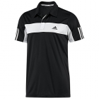 Adidas Men's Galaxy Polo (Black/ White) - Men's Tennis Apparel