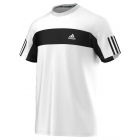 Adidas Men's Galaxy Crew Tee (White/ Black) - Men's Adidas Apparel