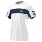 Adidas Men's Galaxy Crew Tee (White/ Navy) - Men's Adidas Apparel