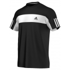 Adidas Men's Galaxy Crew Tee (Black/ White) - Adidas Men's Apparel Tennis Apparel
