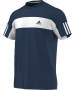 Adidas Men's Galaxy Crew Tee (Navy/ White) - Men's Tops T-Shirts & Crew Necks Tennis Apparel